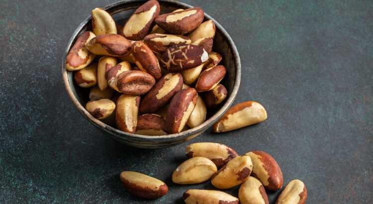 Brazil nuts in bowl